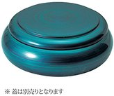 Fukui Craft Jukan chirashi bowl shallow parent emerald (black inside