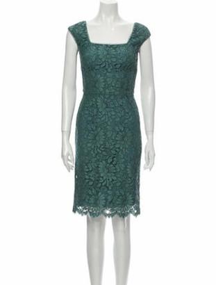 Dolce & Gabbana Lace Pattern Knee-Length Dress Blue
