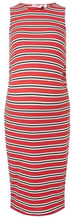 Dorothy Perkins Womens **Maternity Red Striped Bodycon Dress