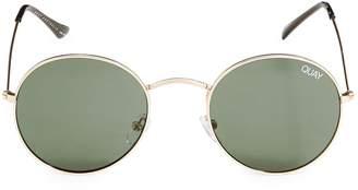 Quay Festival Mod Star 50mm Round Sunglasses
