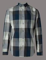 Autograph Pure Cotton Slim Fit Checked Shirt