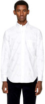 Thom Browne White Thom Cat and Hector Funmix Classic Shirt