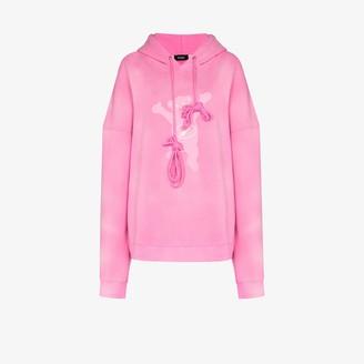 we11done Teddy print hoodie