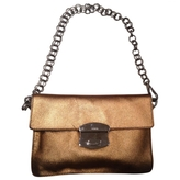 Prada Gold Leather Handbag
