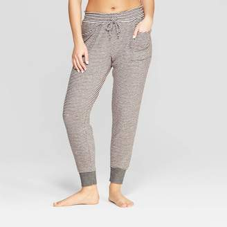 Stars Above Women's Striped Perfectly Cozy Lounge Jogger Pants - Stars Above Gray