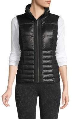 Andrew Marc Packable Quilted Hooded Vest