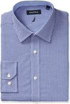 Nautica Men's Classic Fit Gingham Spread Collar Dress Shirt