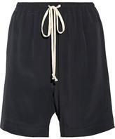 Rick Owens Crepe De Chine Shorts - Black