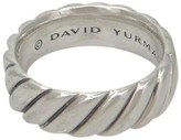 David Yurman 925 Sterling Silver Eternity Cable Wide Band Ring