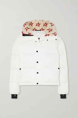 Perfect Moment Oslo Printed Faux Fur-trimmed Quilted Down Ski Jacket - White