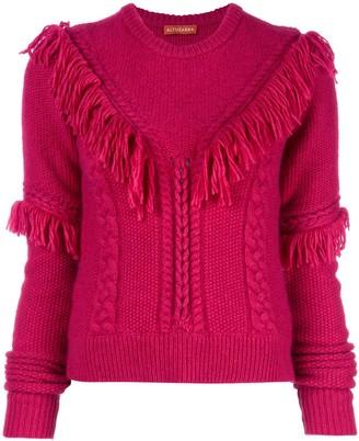 Altuzarra Buckeye fringed knitted top