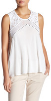 Plenty by Tracy Reese Lace & Mesh Sleeveless Blouse