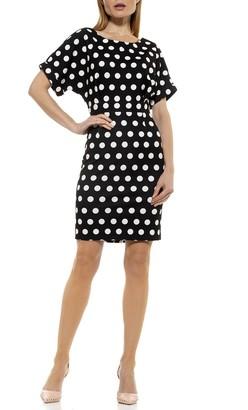 Alexia Admor Polka Dot Dolman Sleeve Dress