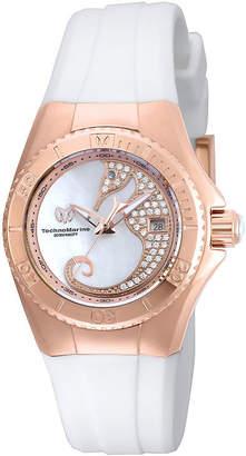 Technomarine TECHNO MARINE Techno Marine Womens White Strap Watch-Tm-115208