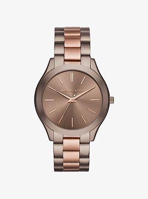 Michael Kors Slim Runway Two-Tone Watch