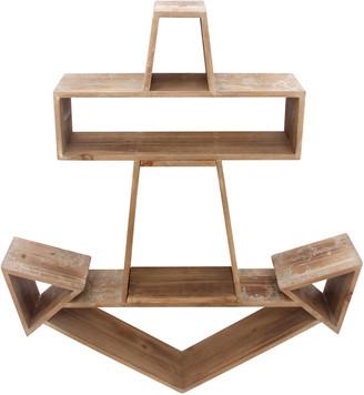 Sagebrook Home Wood Anchor Wall Shelf