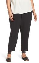 Eileen Fisher Plus Size Women's Silk Georgette Crepe Ankle Pants