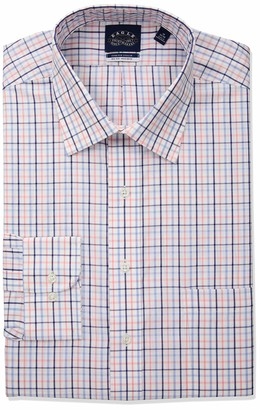 Eagle Men's Tall Dress Shirt Non Iron Stretch Big Fit Check