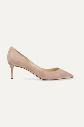 Jimmy Choo Romy 60 Suede Pumps - Neutral