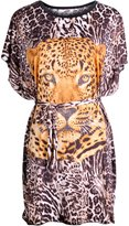 Luciano Caruso Designer Tunic with Beaded Leopard / Tiger Design. Lightweight, Fashionable, Versatile. Perfect for the Summer. One Size Fits Most. Comes in 3 Cool Colours.