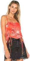 MinkPink Hotsprings Drawstring Cami in Coral. - size M (also in S,XS)