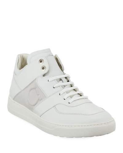 Salvatore Ferragamo Men's Leather Mid-Top Sneakers