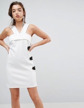 Asos Design ASOS Scuba Eyelet Mini Shift Dress