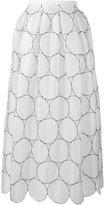 Rochas circle pattern full skirt - women - Silk - 38