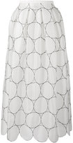 Rochas circle pattern full skirt - women - Silk - 40