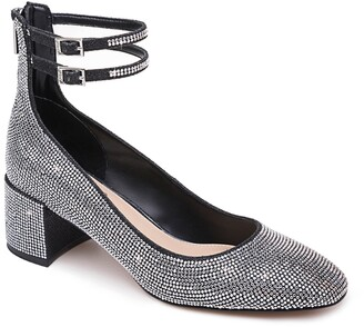 Badgley Mischka Reeves Embellished Mary Jane Block Heel Pump