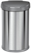 Simplehuman studio Stainless Steel 45L Semi-Round Sensor Trash Can with plastic lid - Grey