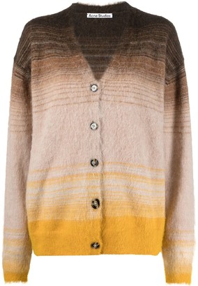 Acne Studios Gradient-Stripe Cardigan