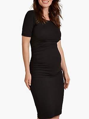 Isabella Oliver Ruched T-Shirt Dress, Black
