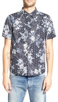 NATIVE YOUTH Men's Trim Fit Print Woven Shirt