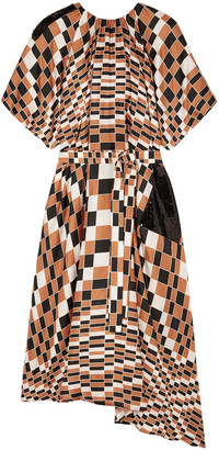Christopher Kane Sequin-embellished Checked Silk-twill Dress