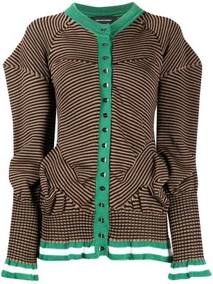 KIKO KOSTADINOV Striped Puff Sleeve Cardigan