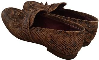 soeur Brown Leather Flats
