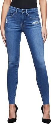 Good American Good Legs Zebra Pocket High Waist Skinny Fit Jeans