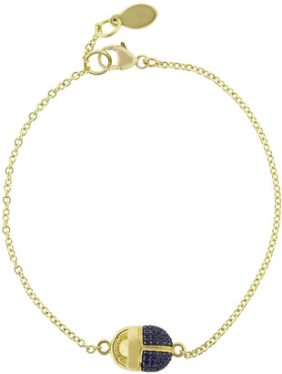 Pamela Love Pave Blue Sapphire Scarab Bracelet