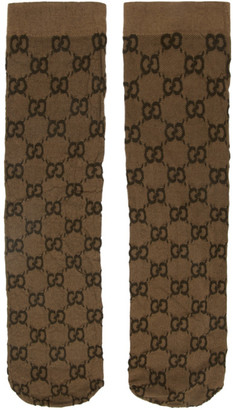 Gucci Beige GG Socks
