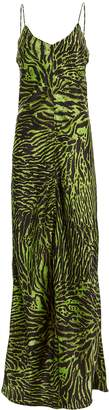 Ganni Tiger Print Silk Gown