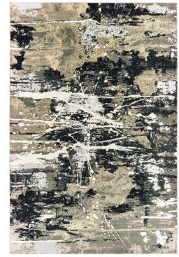 "Oriental Weavers Bowen 109E2 Black/Gold 6'7"" x 9'6"" Area Rug"