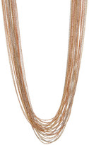 Natasha Accessories Mixed Metal Layered Chain Necklace