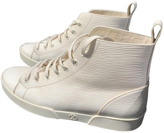Louis Vuitton Trainer Sneaker Boot High White Leather Trainers