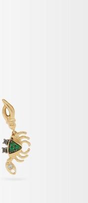 Yvonne Léon Diamond & Gold Single Crab Earring - Green Gold