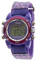 Coleman Kid's Digital Sportwrap Watch - Pink Butterfly Print