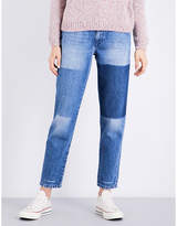 Closed Pedal Pusher patchwork classic-fit high-rise jeans
