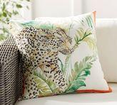 Pottery Barn Jungle Cat Indoor/Outdoor Pillow