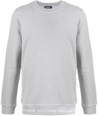 A.P.C. Logo Hem Crewneck Sweatshirt