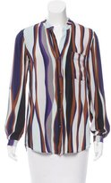 Diane von Furstenberg Striped Long Sleeve Top